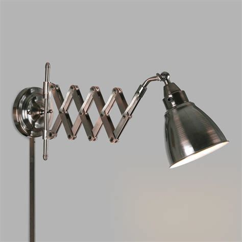 Accordion Wall Sconce copper bronze ortley accordion arm wall sconce world market