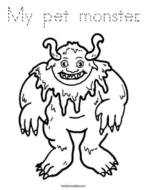 print this coloring page itll print full page my pet monster coloring page tracing twisty noodle
