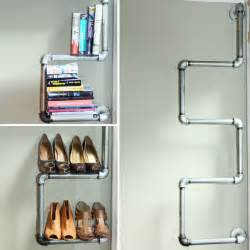 industrial pipe shelving think eat live