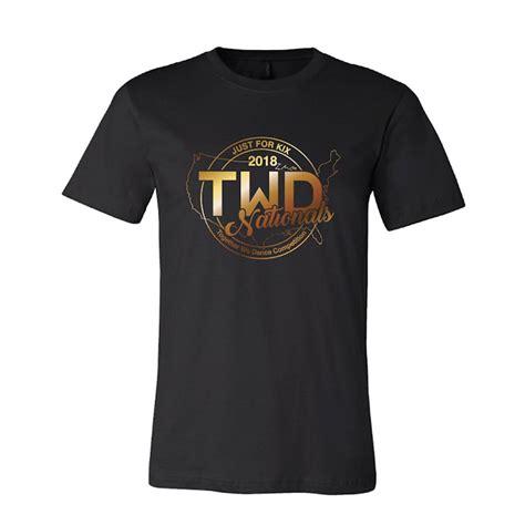 Tshirt Twd twd national gold foil t shirt twdnat