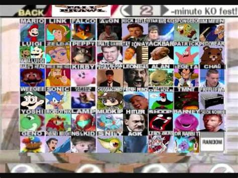 Super Smash Bros Meme - super smash bros meme roster youtube