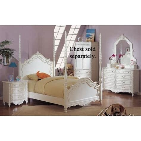 white twin bedroom set girls four poster bed 4pc twin size poster bedroom set