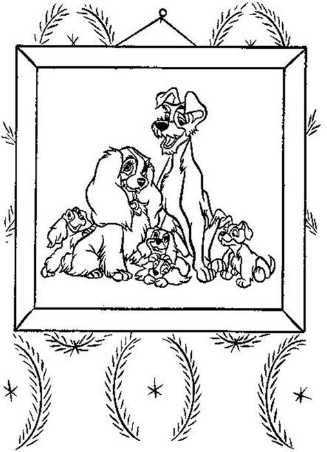 lady and the tr 2 coloring pages coloring home