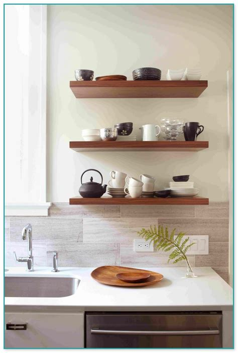 thick white floating shelves