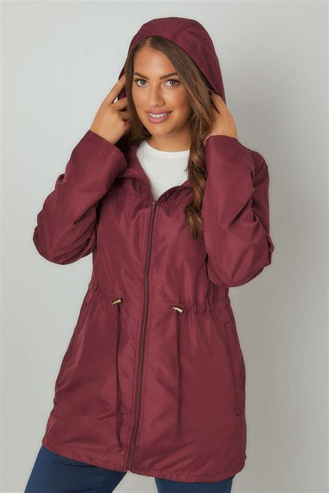 Address Finder From Name And Town Burgundy Pocket Parka Jacket With Plus Size 16 To 36