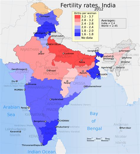 which territory has the least muslim population in the some facts on muslim population growth rate in india india