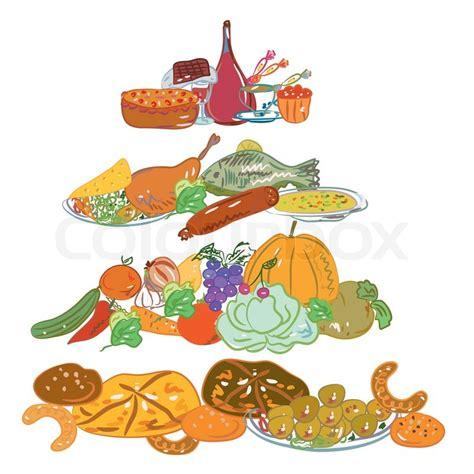 cadenas alimenticias fáciles para dibujar frugter te gr 248 nsager stock vektor colourbox