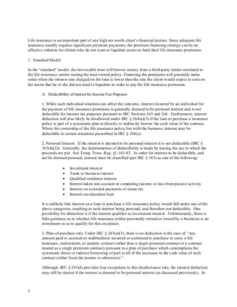 Insurance Beneficiary Letter Premium Financing As Tool For Insurance Funding
