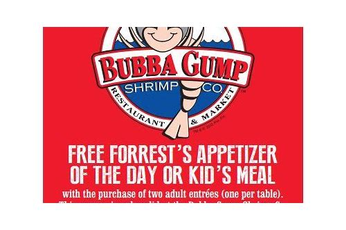 bubba gump shrimp printable coupons