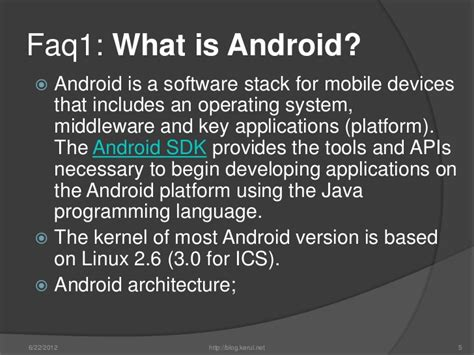android programming language android development beginners faq