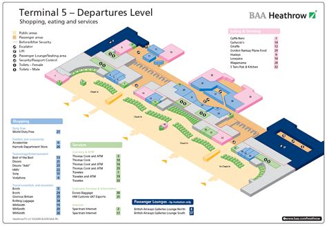 heathrow airport terminal 5 arrivals map terminal 5 heathrow departures airport layouts of