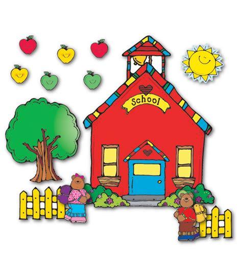 school house pub schoolhouse bulletin board set grade pk 5 carson dellosa publishing