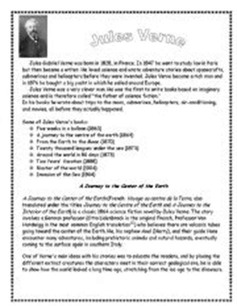 biography reading exercise jules verne biography and reading comprehension and