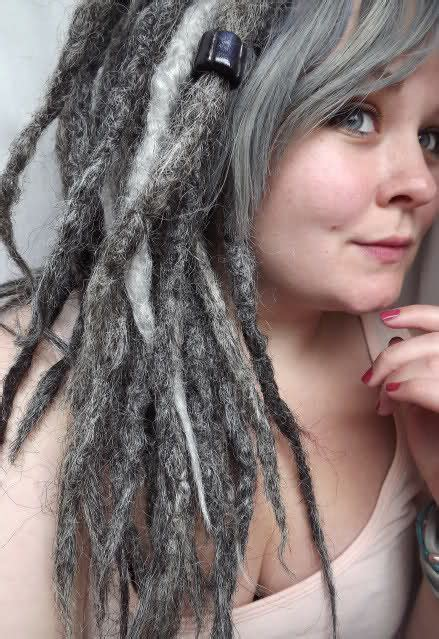 Dreadlocks With Gray Hair | dreads gray and grey on pinterest