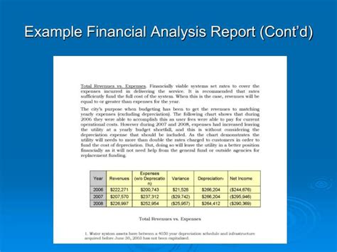 financial analysis report sle format ppt alaska clean water funds financial