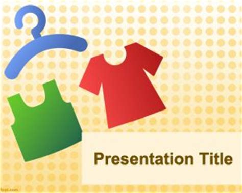 ppt templates for garments clothing powerpoint template