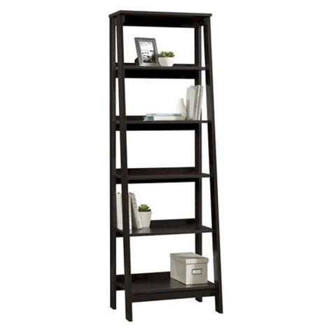 Espresso Bookcases And Target On Pinterest Sauder Ladder Bookcase