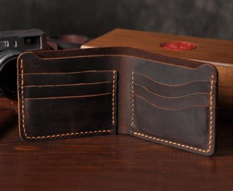 Handmade Mens Wallet Leather - handmade genuine leather mens wallet yk120a 183 senger