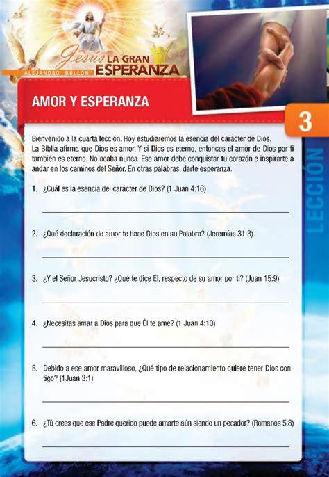 jesus la gran esperanza 18 estudios biblicos 3 18 amor y la esperanza curso b 205 blico jes 218 s la gran