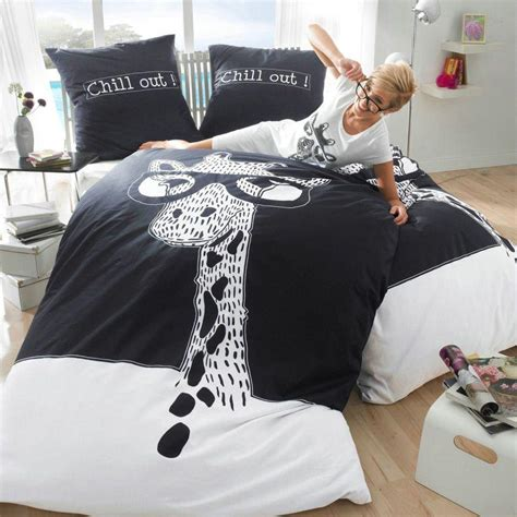 giraffe comforter black and white giraffe bedding set king size queen cotton