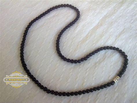Kalung Tasbih Kayu Kokka kalung kokka asli bulat hitam 171 jual gelang tasbih batu