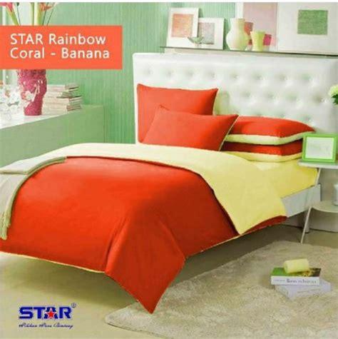 Harga Sprei Merk Rainbow sprei polos coral banana sprei rainbow www