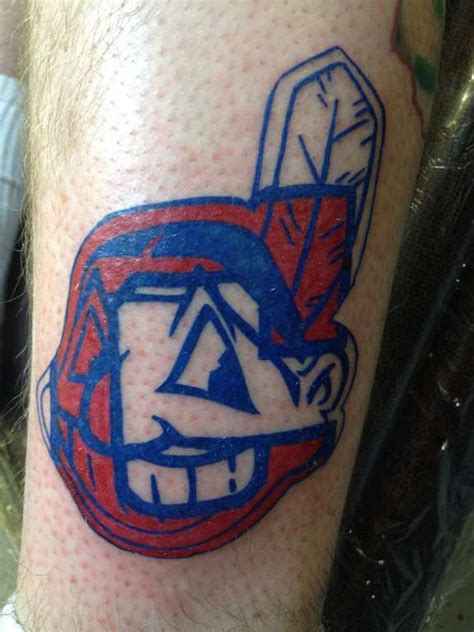 chief wahoo tattoo miller cleveland indians pictures to pin on