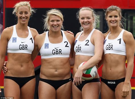 beach volleyball team stops traffic in parliament square