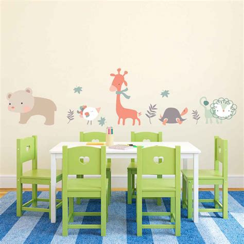 nursery wall decals animals animals wall decal for nursery cutzz