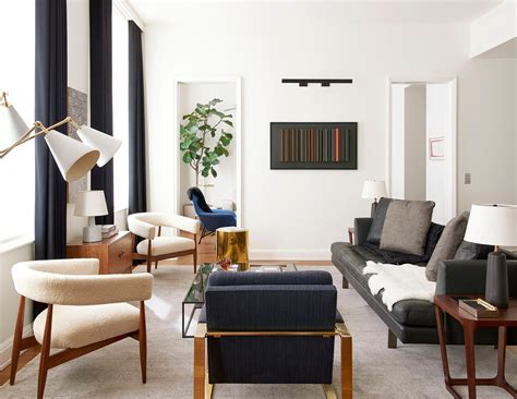 clean lined  york apartment  gachot studios dressed