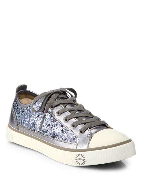 sparkle sneakers ugg evera glitter sneaker in metallic lyst