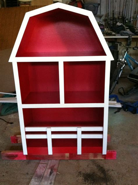white barn bookshelf diy projects