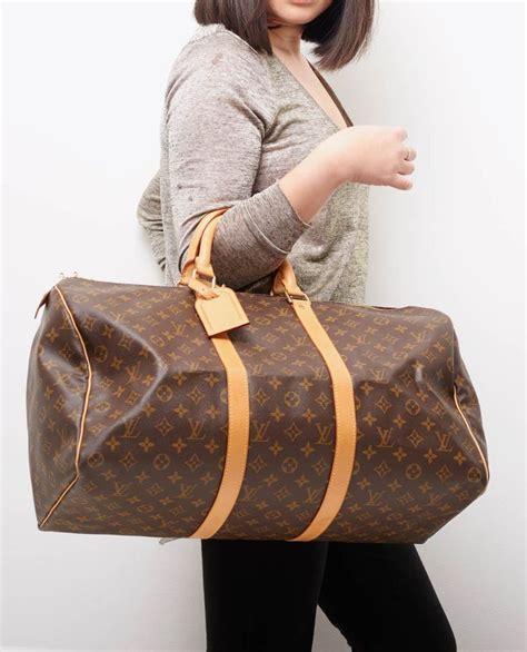 Lag016 Luggage Model Pin vintage louis vuitton keepall 50 model bags i louis vuitton keepall