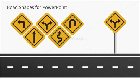 road template road symbols for powerpoint slidemodel
