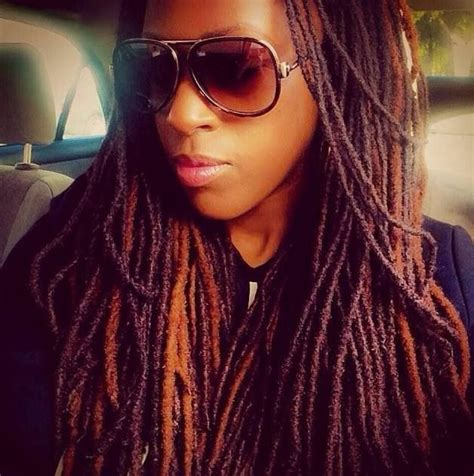 natural dyed locs i love the coloring of her locs loc styles pinterest
