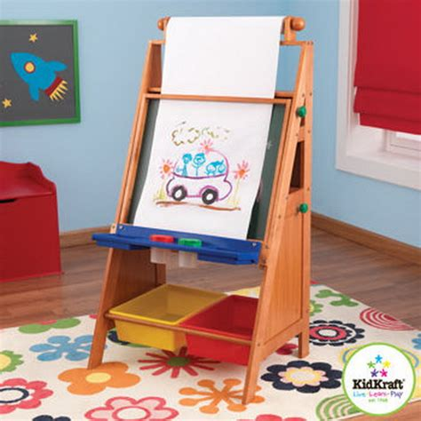 Desk With Paper Roll by New Wood Easel With Paper Roll Chalk Erase