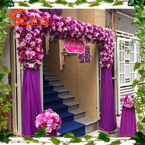 new design artificial wedding flower decor wedding flower door fake party decoration wedding