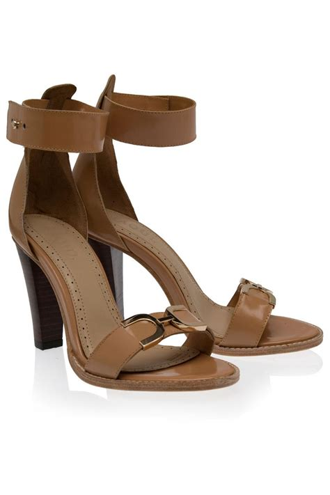 beige high heel sandals raoul ankle high heel sandals in beige lyst