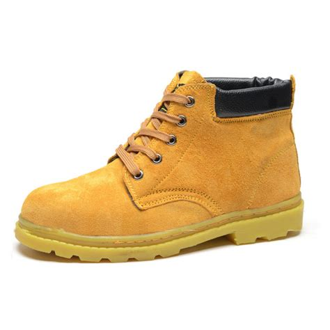 Sepatu Safety Boot Suedeshoes Steel Toe Boot Brown Sepatu Pria s work safety boots steel toe sole brown suede