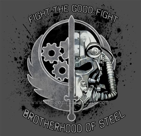 brotherhood of steel tattoo brotherhood of steel the fight by dragonspirit469 on