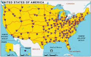 map of united states with cities and highways united states of america country profile free maps of