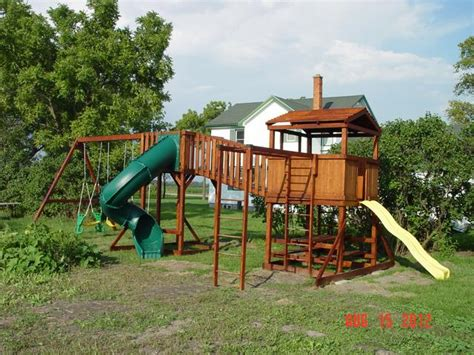 Backyard Play Structure by Triyae Custom Backyard Play Structures Various