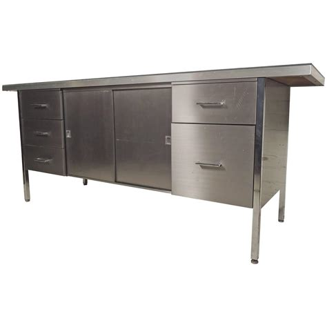 stainless steel storage cabinet for sale at 1stdibs
