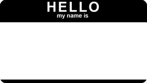 hello name tag template car interior design