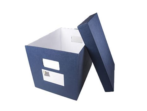 Office Warehouse Storage Box w/Lid Blue Legal   Office