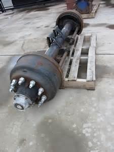 axle suit trailer  stud rims drum brakes type  asset auction