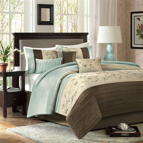 beautiful comforters beautiful modern soft blue brown taupe beige ivory