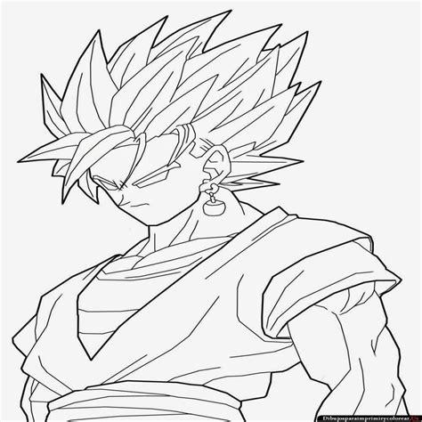 imagenes en blanco de dragon ball z 15 dibujos de dragon ball z para colorear de goku
