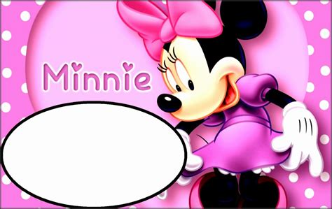 Page Plus Minnie Mouse Greeting Card Template by 10 Birthday Invitation Template For Baby