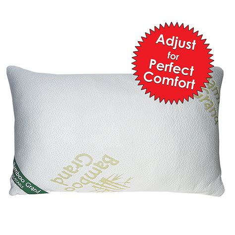 amazon com shredded memory foam pillow with stay cool bamboo new and improved adjustable shredded memory foam